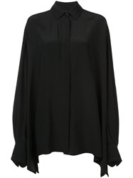 Vera Wang Oversized Tailored Shirt Black