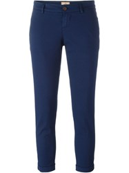 Fay Cropped Trousers Blue