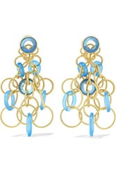 Buccellati Hawaii 18 Karat Gold Chalcedony Earrings One Size
