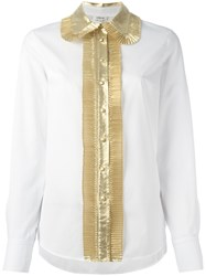 Manoush Contrast Shirt White