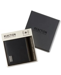 Kenneth Cole Reaction Men's Leather Nappa Rfid Extra Capacity Slimfold Wallet Black