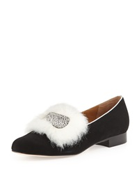 Bettye Muller Remick Suede Leather Loafer Black