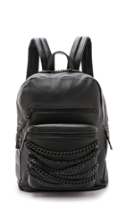 Ash Domino Chain Backpack Black