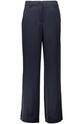Helmut Lang Satin Wide Leg Pants Midnight Blue