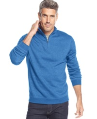 John Ashford Big And Tall Solid Quarter Zip Pullover