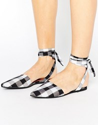 Park Lane Tie Ankle Point Gingham Shoe Gingham Multi