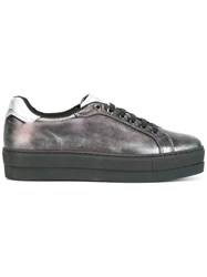 Diesel Platform Metallic Sneakers Black