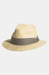 Tommy Bahama 'Rough Cotton' Raffia Fedora Natural