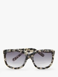 And Or 'S Marble Square Sunglasses Grey Lilac Gradient
