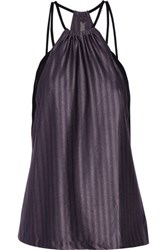 Koral Revolution Mesh Trimmed Textured Stretch Jersey Tank Purple