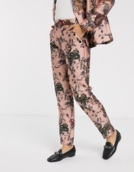 Maison Scotch Ornate Snake Printed Trousers Co Ord Pink