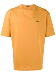 Raf Simons Hyena Logo T Shirt Men Cotton S Yellow Orange