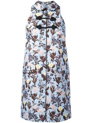 Vivetta Floral Print Mini Dress Blue