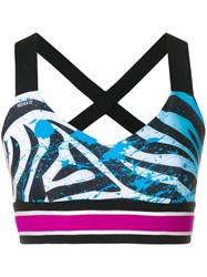 No Ka' Oi Zebra Print Sports Bra Black