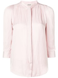 Zadig And Voltaire Ruched Blouse Pink