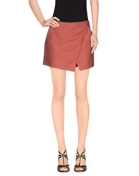 Maison Scotch Skirts Mini Skirts Women Rust