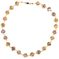 Alice Joseph Vintage Venetian Glass Bead Necklace White