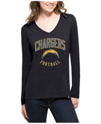 47 Brand '47 Women's San Diego Chargers Splitter Arch Long Sleeve T Shirt Navy