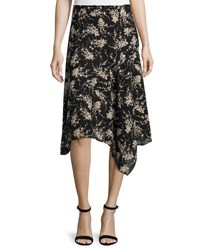 Michael Kors Asymmetric Slip Skirt Black Nude