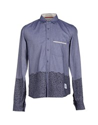 Supreme Being Denim Denim Shirts Men Blue