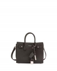Saint Laurent Nano Carryall Leather Tote Bag Black