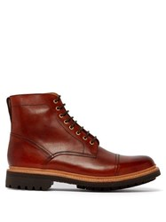 Grenson Joseph Lace Up Leather Boots Brown