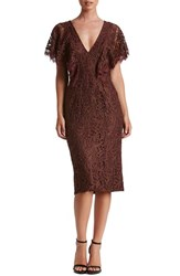 Dress The Population Women's Lidia Lace Midi