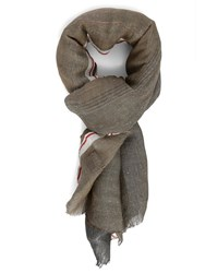 Hackett Brown Linen Scarf