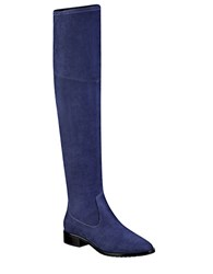 Ivanka Trump Livi Over The Knee Faux Suede Boots Blue
