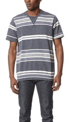 Sol Angeles Turkish Stripe Short Sleeve Crew Tee Indigo