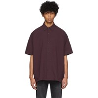 Acne Studios Burgundy Shepton Short Sleeve Shirt