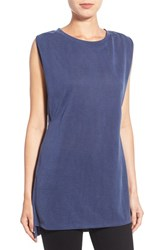 Women's Halogen Side Pleat Sleeveless Jersey Tunic