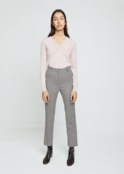 Hache Houndstooth Straight Leg Pants Multi