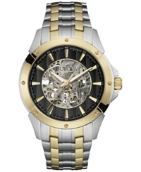 Bulova Men's Automatic Two Tone Stainless Steel Bracelet Watch 43Mm 98A146