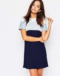Daisy Street T Shirt Dress With Color Block Multi