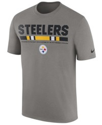Nike Men's Pittsburgh Steelers Legend Staff T Shirt Heather Gray