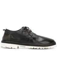 Marsell Round Toe Derby Shoes Black