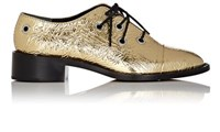 Proenza Schouler Women's Metallic Leather Cap Toe Oxfords Gold