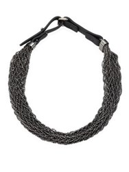 Brunello Cucinelli Silver Beaded Necklace No Color