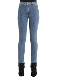 Magda Butrym Cotton Denim Jeans W Stirrups And Pintuck