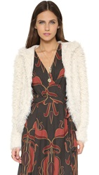 Free People Hooded Fluffy Coat Ivory