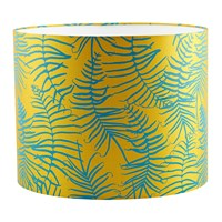 Clarissa Hulse Feather Fern Lamp Shade Tumeric Kingfisher