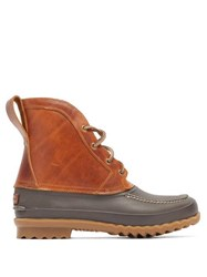 Quoddy Bi Colour Rubber And Leather Field Boots Brown