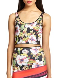 Clover Canyon Botanical Wave Cropped Neoprene Tank Multi