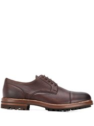 Brunello Cucinelli Thick Sole Derby Shoes Brown