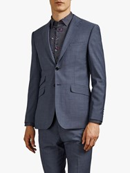 Ted Baker Whitbej Wool Tailored Suit Jacket Light Blue