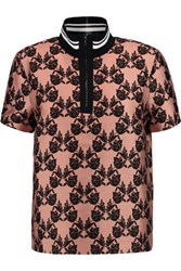 Mother Of Pearl Javel Printed Cotton And Silk Blend Top Antique Rose
