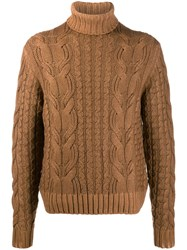 Cruciani Turtle Neck Cable Knit Jumper 60