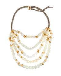 Lydell Nyc Beaded Five Row Necklace Multi