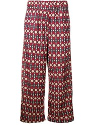 White Sand Casual Trousers Purple
